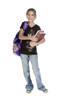 teen with backpack