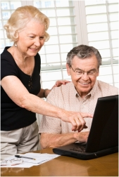 old people at computer