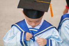 child graduating