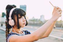 Asian millennial woman selfie