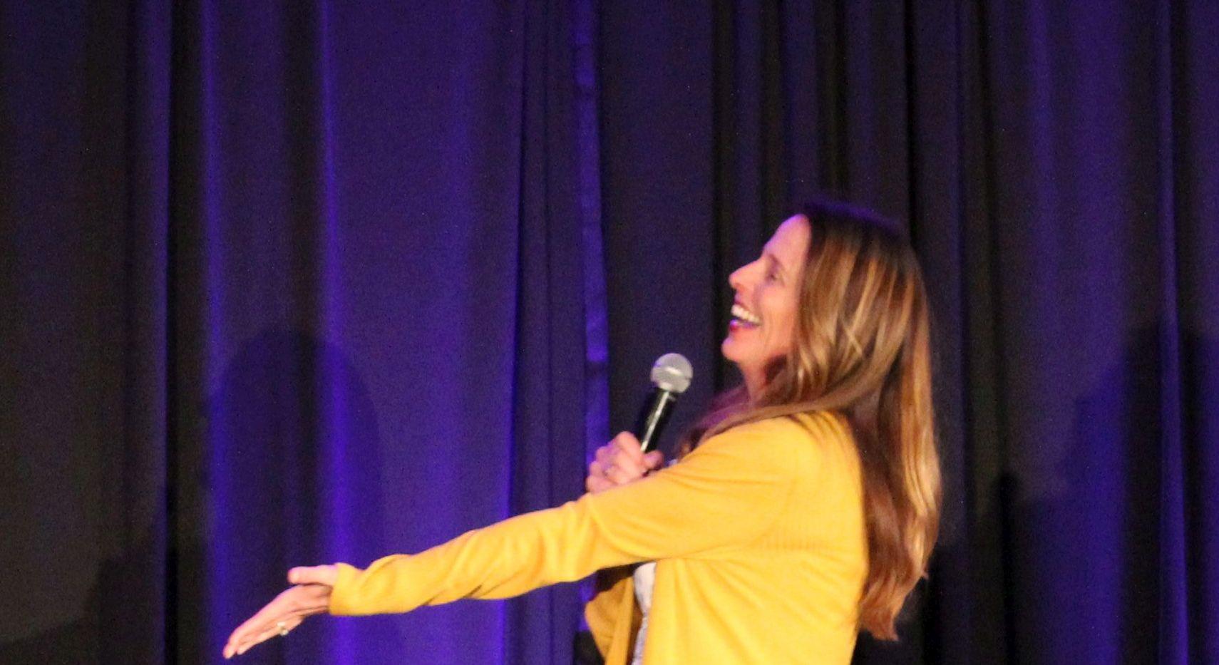 Joanie gesturing