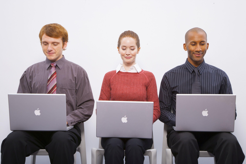 People on laptops
