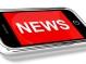 News Headline On Mobile Phone For Online Information Or Media